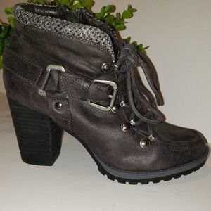 Not Rated So Gully Grey Ankle Boot, Size 8